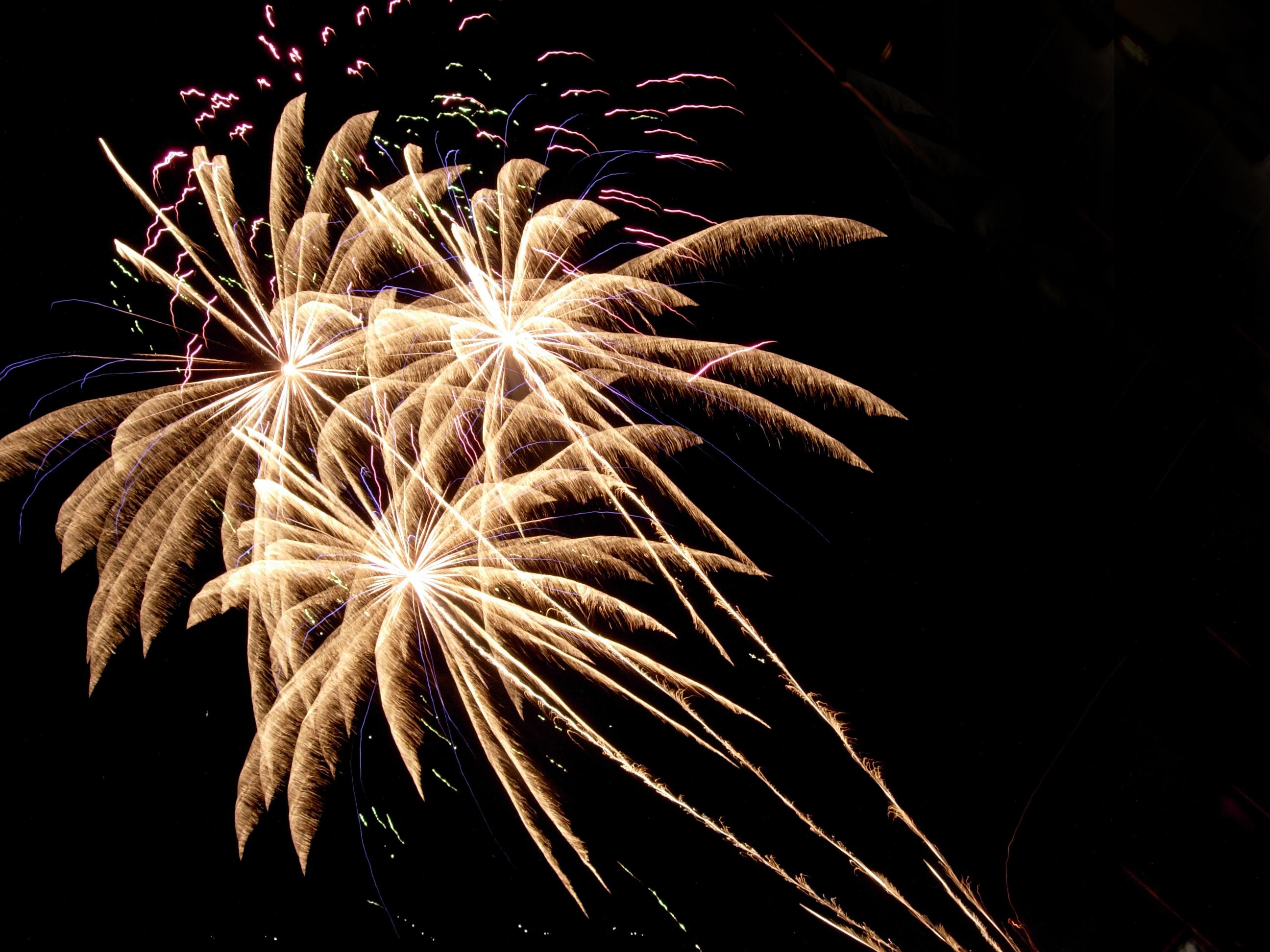 Foto van vuurwerk in de lucht