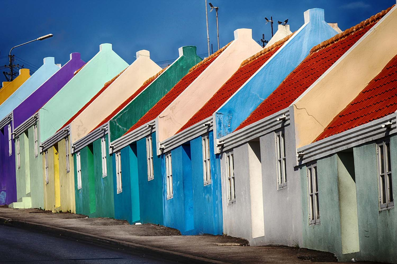 gekleurde huizen