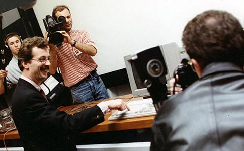 foto lancering LMR in 1990 door Hans Alders