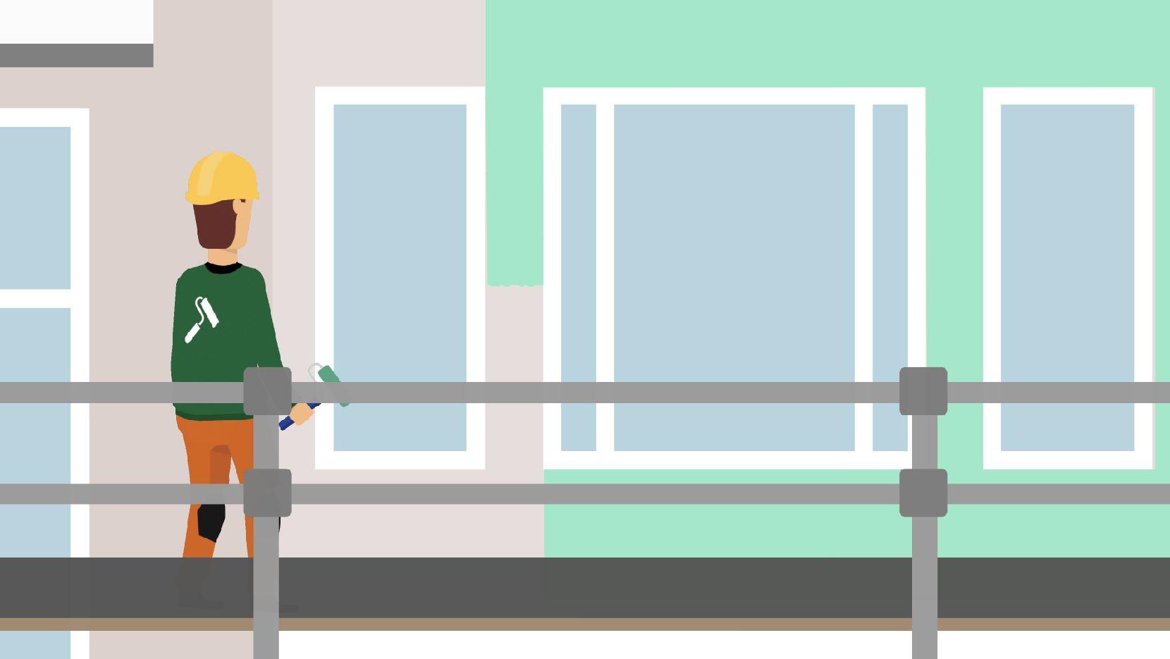screenshot uit animatie vallen van hoogte