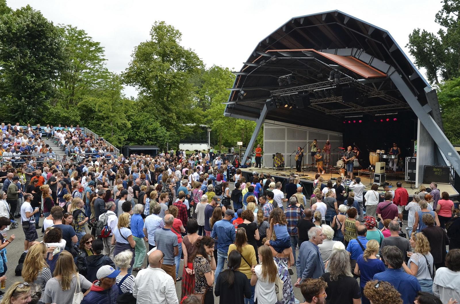 Festival podium publiek concert