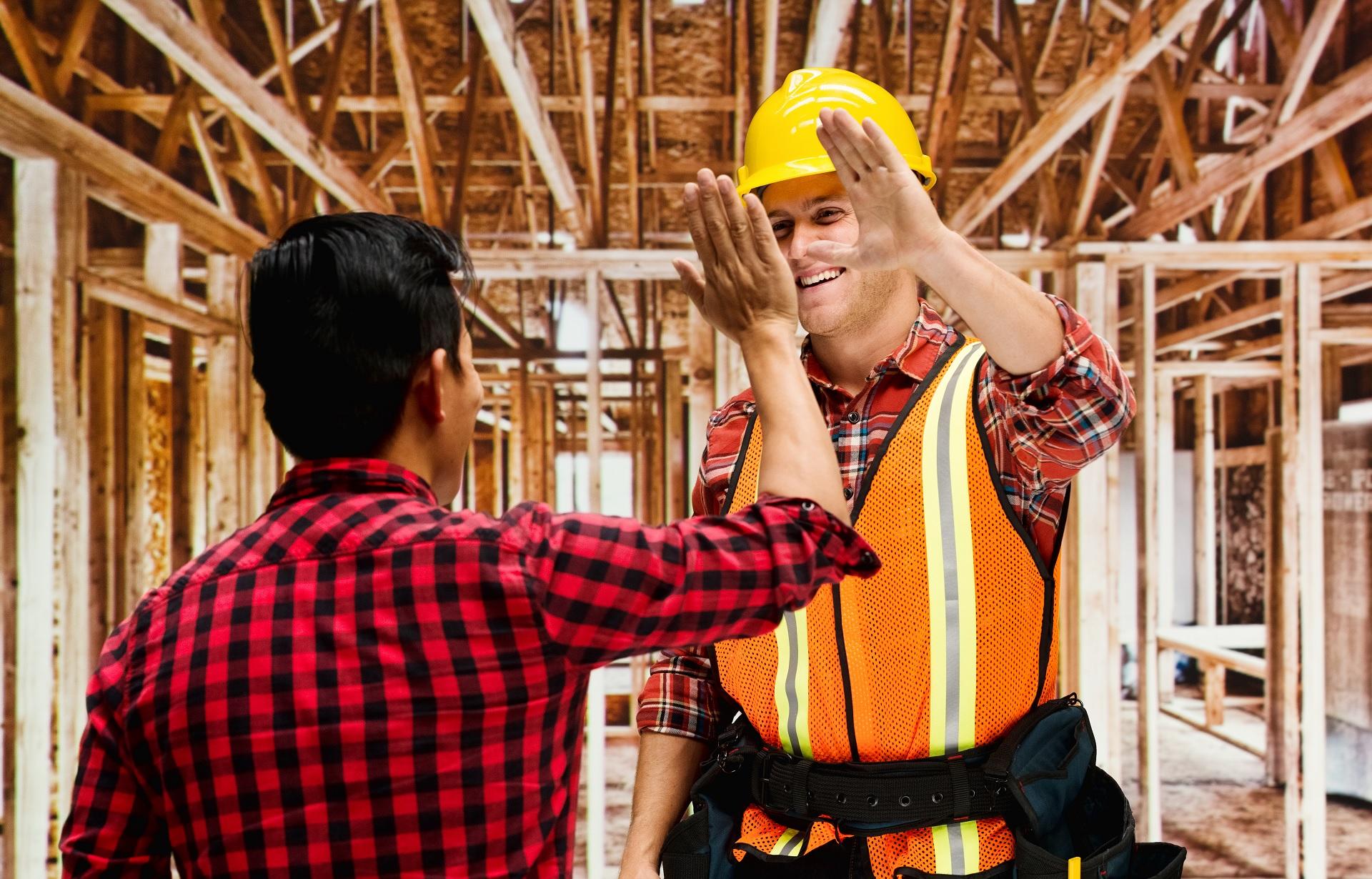 Mannen in de bouw