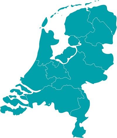 Nederland kaart met provincies