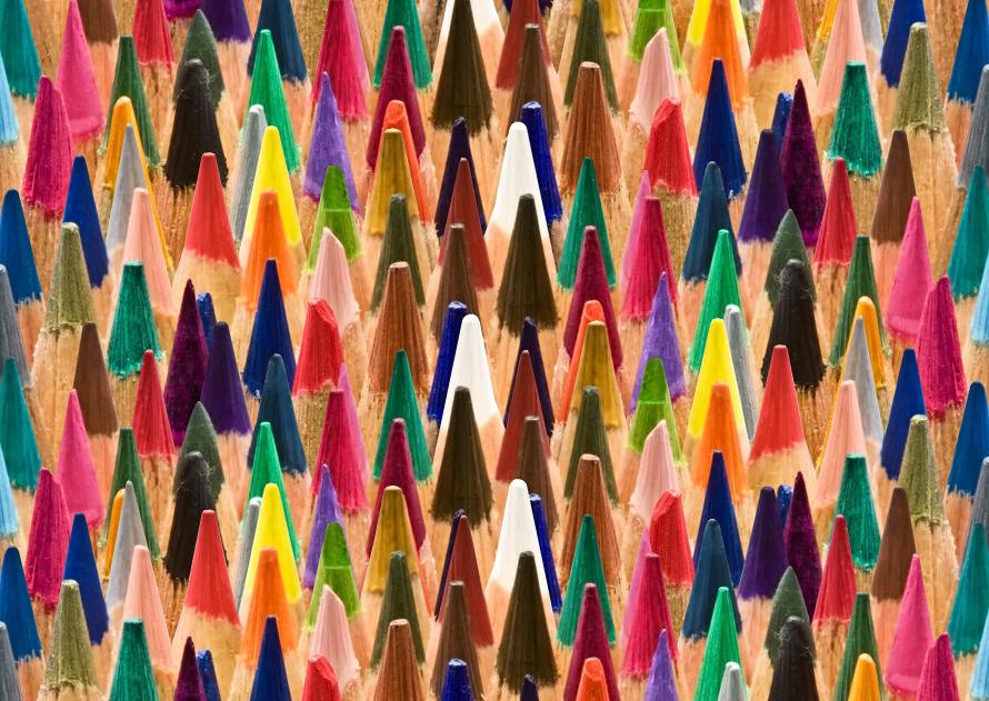 Foto van potloden
