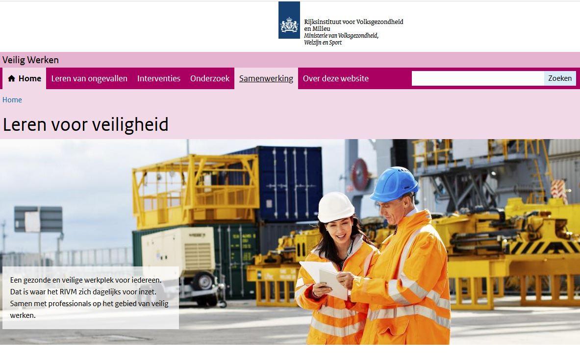 screenshot homepage LVV nieuwe structuur