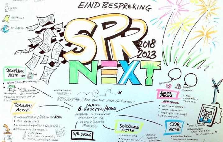 Tekening eindbijeenkomst Strategisch Programma RIVMnext
